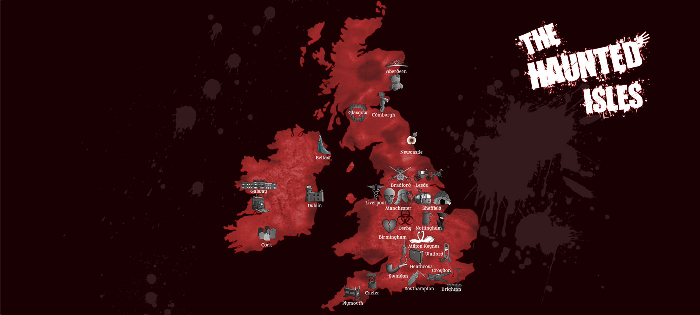 Haunted Uk Amp Ireland A Ghostly Map For Halloween
