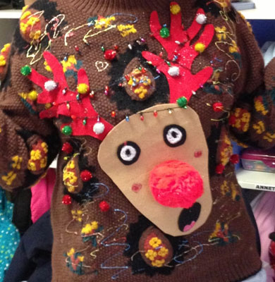 The Terrified Rudolph Christmas Jumpers