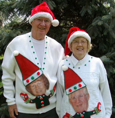 Matching Grandparents Christmas Jumpers
