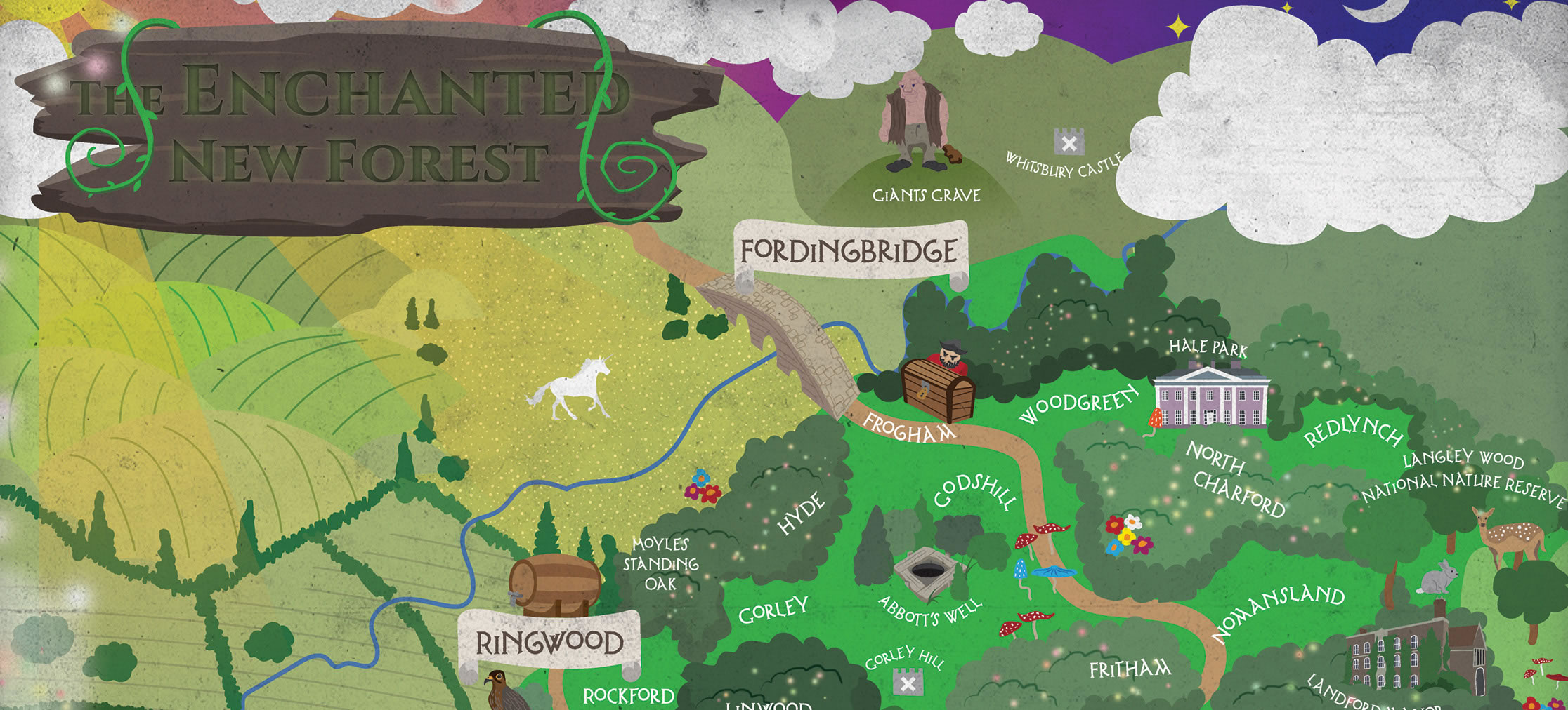 The Enchanted New Forest A Magical Map By Jurys Inns